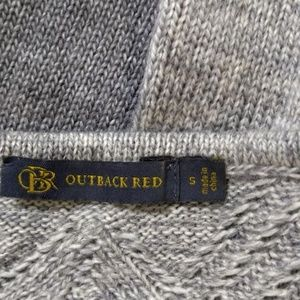 Outback Red Sweaters - Outback Red Small Sweater Gray Long Sleeve Crew